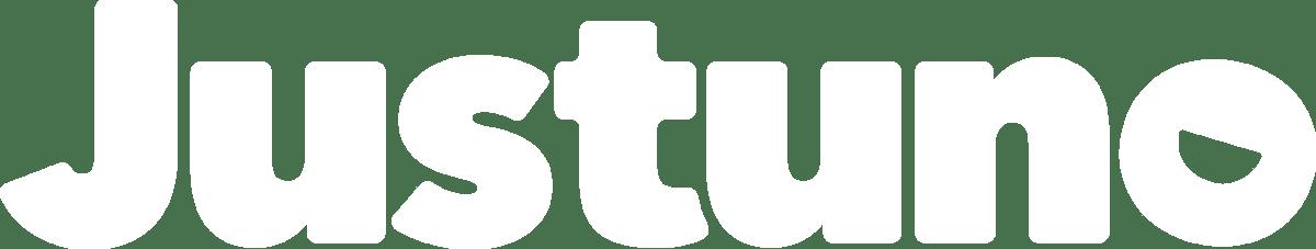 White (No Padding) Justuno logo